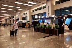 Singapore: Changi international airport T1 Royalty Free Stock Photo