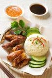 Singapore chicken rice. Stock Photos