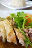 Singapore chicken rice Royalty Free Stock Photography
