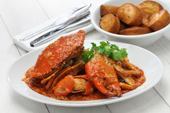 Singapore chili crab Royalty Free Stock Images
