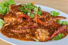Singapore Chilli Crab Stock Photos