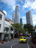 Singapore China Town. View of China Town street and building,Singapore royalty free stock image