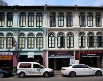 Singapore China Town. View of China Town street and building,Singapore royalty free stock photo