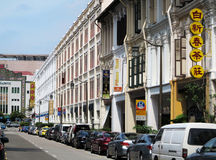 Singapore China Town. View of China Town street and building,Singapore royalty free stock photography