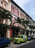 Singapore China Town. View of China Town street and building,Singapore stock image