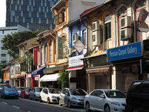 Singapore China Town. View of China Town street and building,Singapore stock photo