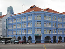 Singapore China Town. View of China Town street and building,Singapore royalty free stock photos