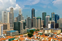 Singapore Chinatown and Business District Royalty Free Stock Photos