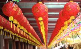Singapore Chinatown. Chinese lanterns and traditional architecture in Chinatown, Singapore Stock Photos