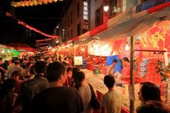 Singapore Chinatown Chinese Lunar New Year shoppin Stock Image