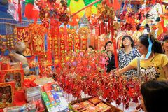 Singapore Chinatown Chinese Lunar New Year shoppin Royalty Free Stock Photography