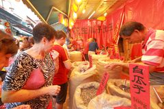 Singapore Chinatown Chinese Lunar New Year shoppin Stock Photo