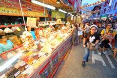Singapore Chinatown Chinese Lunar New Year shoppin Stock Photo