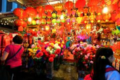 Singapore Chinatown Chinese Lunar New Year shopping Royalty Free Stock Image
