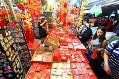 Singapore Chinatown Chinese Lunar New Year shopping Stock Photography