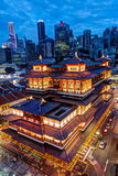 Singapore Chinatown and Financial District Skyline Royalty Free Stock Photo