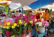Singapore Chinatown floral market Stock Photos