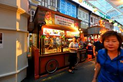 Singapore : Chinatown food street Royalty Free Stock Photo