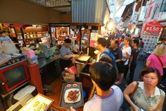 Singapore : Chinatown food street Stock Photography