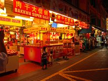 Singapore Chinatown Night Scene Royalty Free Stock Image