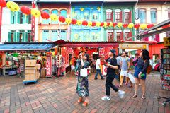 Singapore Chinatown shopping Royalty Free Stock Images