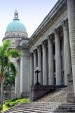 Singapore: Cidade salão e abóbada da corte suprema Foto de Stock Royalty Free