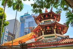 Thian Hock Keng Temple of Singapore. SINGAPORE, SINGAPORE - CIRCA SEPTEMBER, 2017: The Thian Hock Keng Temple of Singapore royalty free stock images