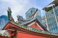 Thian Hock Keng Temple of Singapore. SINGAPORE, SINGAPORE - CIRCA SEPTEMBER, 2017: The Thian Hock Keng Temple of Singapore stock photos