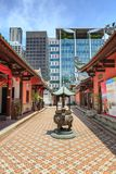 Thian Hock Keng Temple of Singapore. SINGAPORE, SINGAPORE - CIRCA SEPTEMBER, 2017: The Thian Hock Keng Temple of Singapore stock photography