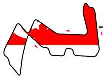 Singapore circuit: Formula 1 stock image