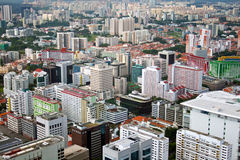 Singapore City. High Point view on Singapore City royalty free stock photography