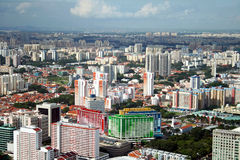 Singapore City. High Point view on Singapore City royalty free stock image