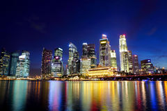 Singapore City. Skyline at night Stock Images