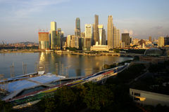 Singapore City. A view of the Singapore harbour Stock Photos
