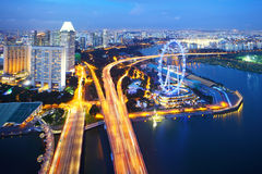 Singapore city. Skyline at night Stock Photography