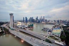 Singapore City. Birds eye View of Singapore Royalty Free Stock Photo