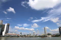 Singapore City with Blue Sky Royalty Free Stock Photos
