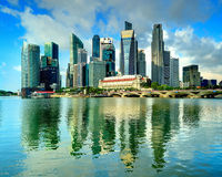 Singapore City Centre Royalty Free Stock Photo