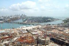 Singapore city construction Royalty Free Stock Photo