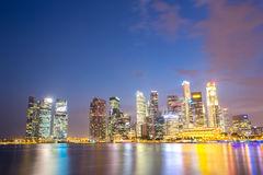 Singapore city downtown Royalty Free Stock Images