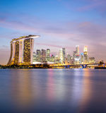 Singapore city downtown Royalty Free Stock Photos