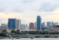 Singapore city downtown at morning. Singapore - JULY 9, 2017 : Singapore city downtown at morning Stock Image