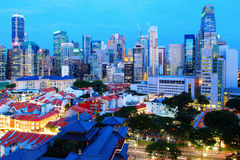 Singapore city downtown Royalty Free Stock Image