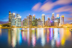 Singapore city downtown at night in Singapore Stock Image