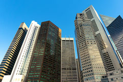 Singapore city downtown skyscrapers office buildings of modern m Stock Photo