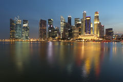 Singapore City at Dusk Stock Photo