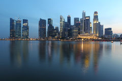 Singapore City at Dusk Royalty Free Stock Photo