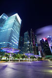 Singapore City at dusk Stock Image
