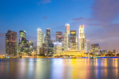 Singapore city dusk Royalty Free Stock Image