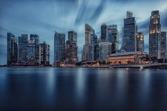 Singapore city at dusk Royalty Free Stock Image